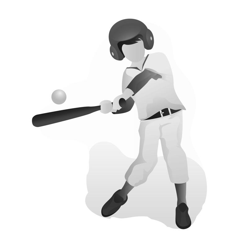 baseball batter at plate swinging at ball